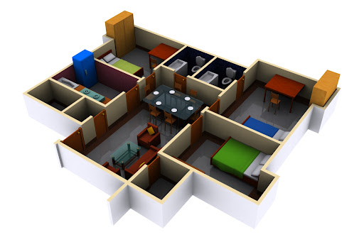apartment 3d renders
