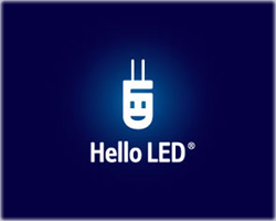 Hello LED logo
