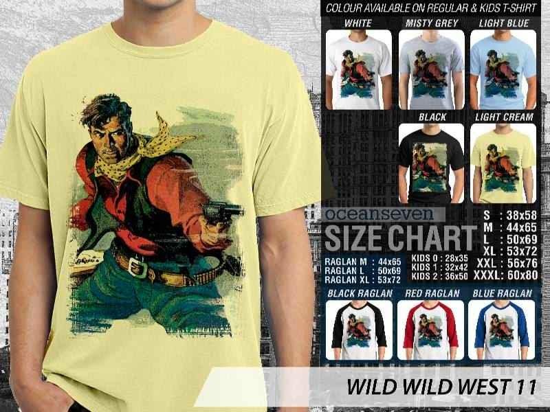 Kaos Cowboy Americana 11 Wild West distro ocean seven