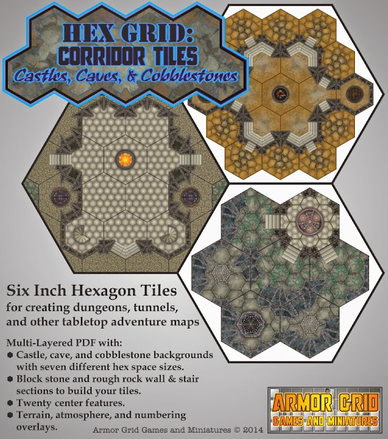 Hex Grid Corridor Tiles Armor Grid Games And Miniatures