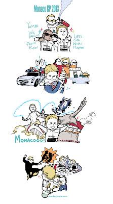 комикс Sunday Jorge по Гран-при Монако 2013