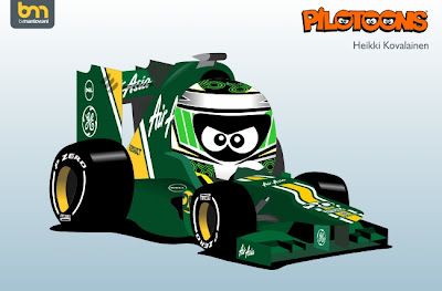 pilotoons 2012 Caterham CT01 и Хейкки Ковалайнен