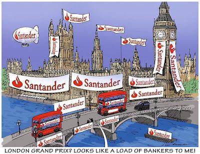 Гран-при Лондона от Santander - комикс Jim Bamber
