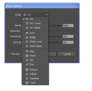 15 dạng biến đổi đối tượng tạo kiểu chữ trong Photoshop