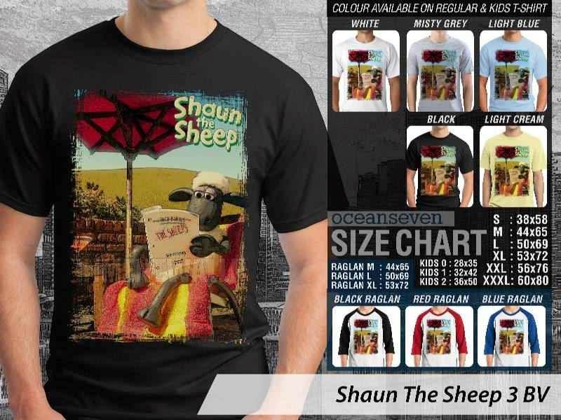 Kaos Movie Shaun The Sheep 3 distro ocean seven