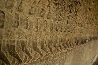 Reliefy w Angkor Wat