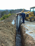 Landfill Gas Vent trench installation