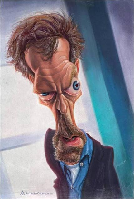 Хью Лори - Доктор Хаус - 18 юмористических карикатур на знаменитостей из 15 известных кинолент (1)