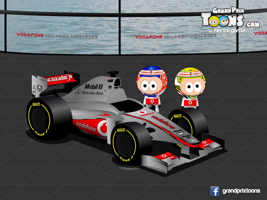 Дженсон Баттон Серхио Перес McLaren MP4-28 Grand Prix Toons 2013
