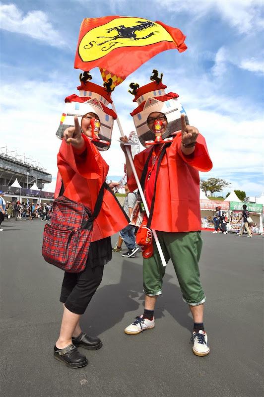 носатые болельщики Ferrari на Гран-при Японии 2014