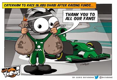 Caterham едет в Абу-Даби - комикс Chris Rathbone перед Гран-при Абу-Даби 2014