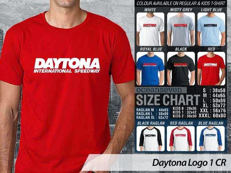 KAOS Daytona 1 Logo Otomotif distro ocean seven
