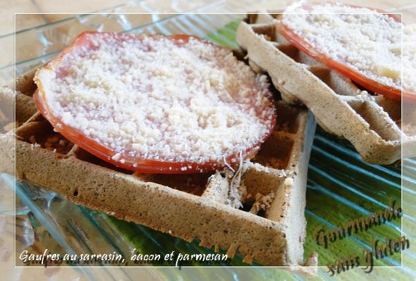 Gaufre au sarrasin, bacon et parmesan