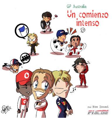 анимешная картинка Noe Izumi по Гран-при Австралии 2012