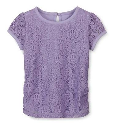 Áo bé gái Lace ren Arizona made in vietnam, màu tím.