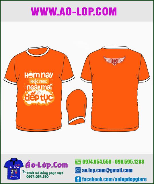 Mẫu áo lớp đẹp màu cam