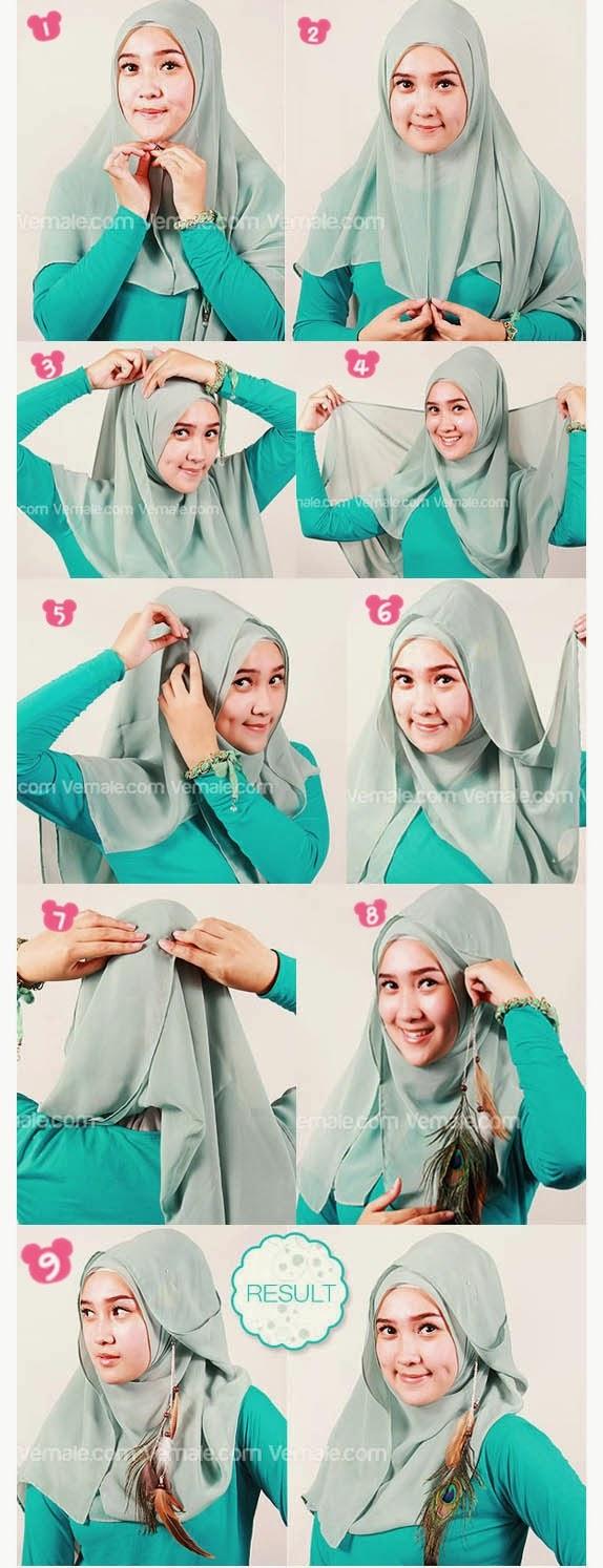 Download tutorial hijab segi empat ala dian pelangi