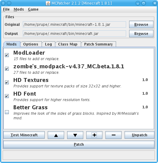 MCPatcher HD Fix 2.3.2_01 for Minecraft 1.1