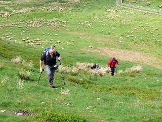 It's quite a steep climb.