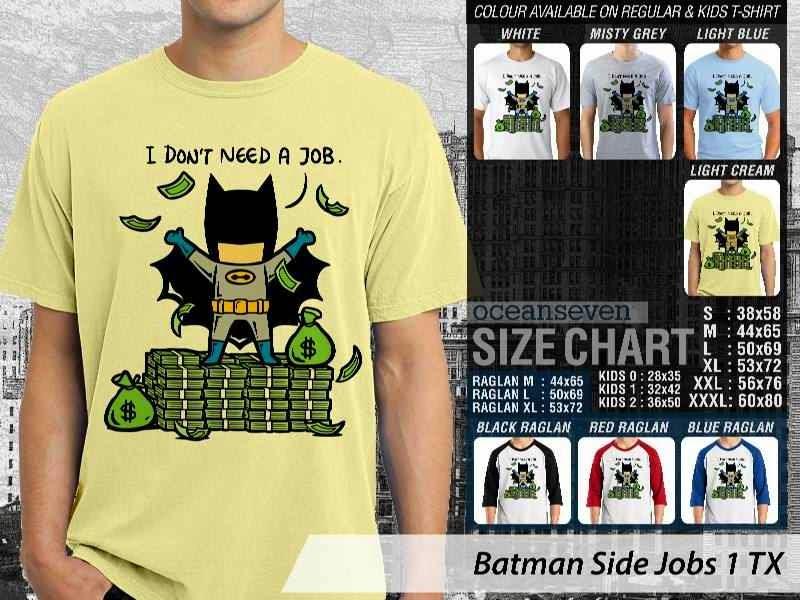 Kaos Superhero Batman Side Jobs 1 TX distro ocean seven
