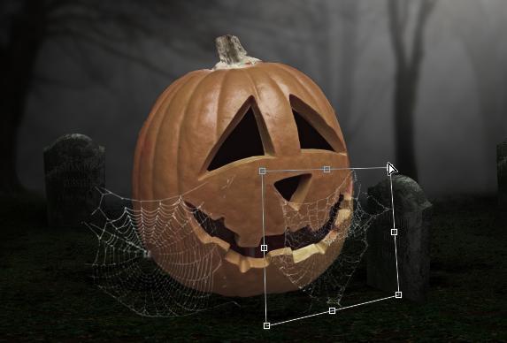 Manfaatkan brush untuk menambah jaring laba-laba