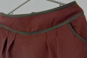 Plum Wool Skirt