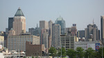 A look back towards MidTown and 30 Rock (the building with the white ball on top of it)