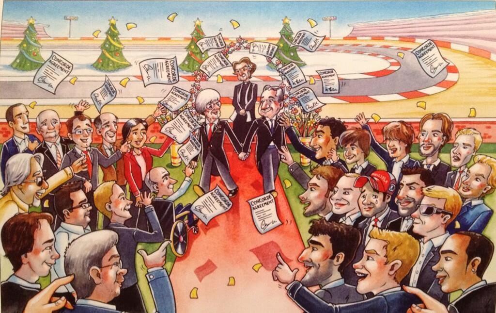 Традиционная рождественская открытка Берни Экклстоуна 2013