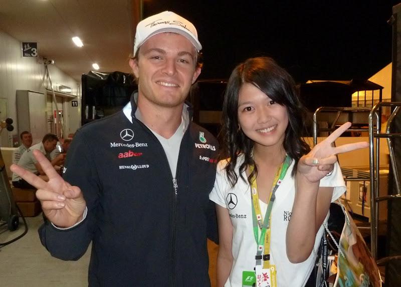 Mana и Нико Росберг на Гран-при Японии 2011