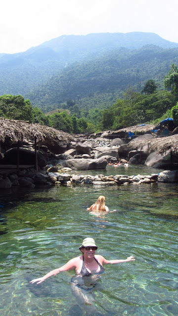 A refreshing dip at the Suoi Voi Elephant Springs.