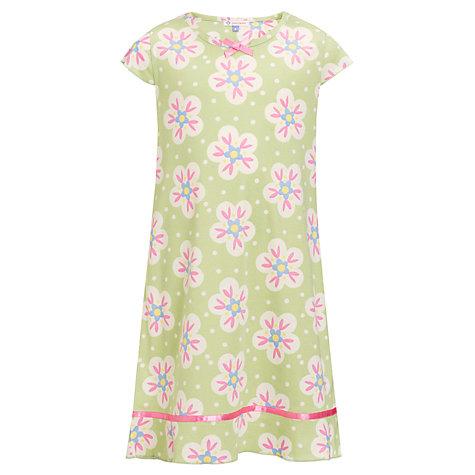 Đầm ngủ bé gái John Lewis hàng xuất Anh, made in vietnam, tay ngắn màu xanh lá.