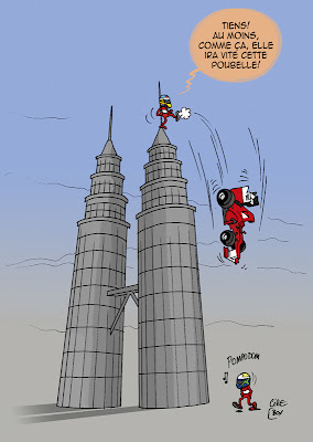 Фернандо Алонсо пинает болид Ferrari с башен на Фелипе Массу - комикс Cirebox