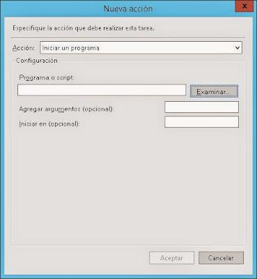 Agregar tarea programada para reiniciar equipo Windows Server 2012 de forma automática todos los días
