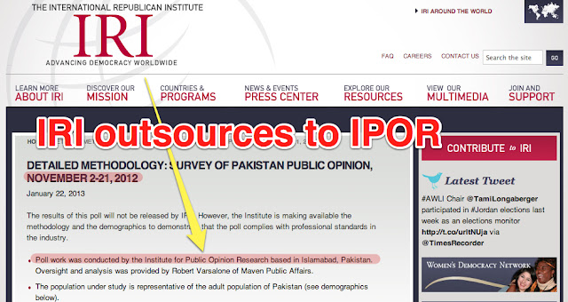 IRI outsources Pakistan survey to IPOR