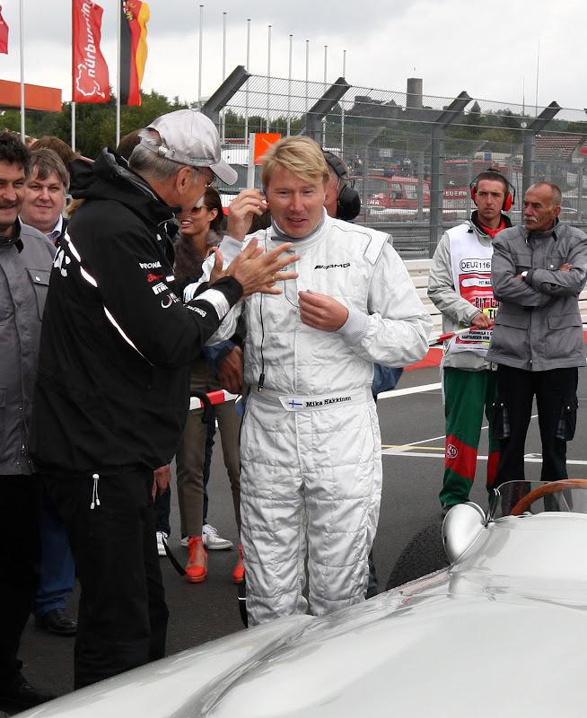Мика Хаккинен и Дитер Цетше на Нюрбургринге в дни уикэнда Гран-при Германии 2011