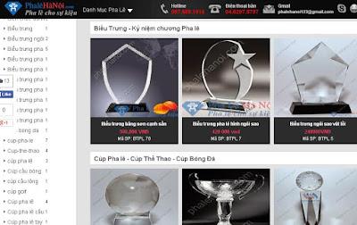 templates blogspot bán hàng pha lê thủy tinh
