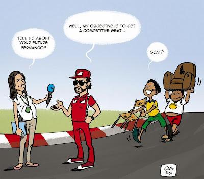 Фернандо Алонсо о своих планах - комикс Cirebox перед Гран-при Бразилии 2014
