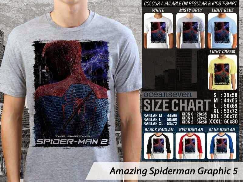 Kaos Film Superhero Amazing Spiderman Graphic 5 distro ocean seven