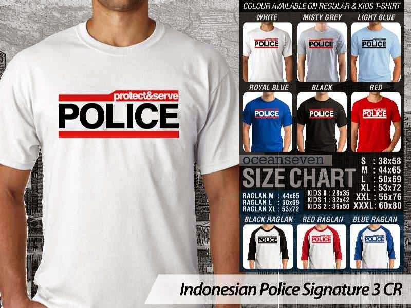 KAOS Indonesian Police Signature 3 | KAOS Protect & Serve Police distro ocean seven