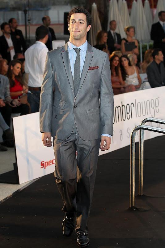Даниэль Риккардо на Amber Fashion Show на Гран-при Монако 2012