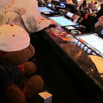 I'm pretty sure that bear isn't old enough to gamble