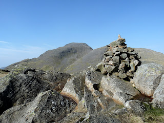 Great Gable from Seathwaite Fell Summit.