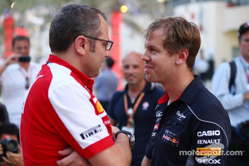 Себастьян Феттель и Стефано Доменикали на Гран-при Бахрейна 2013
