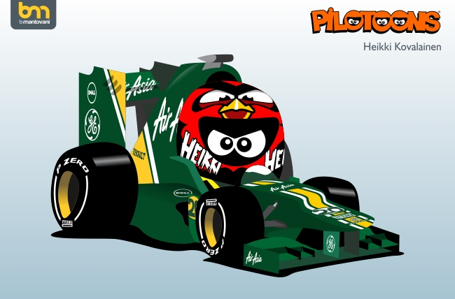 Хейкки Ковалайнен Caterham CT01 Angry Birds pilotoons 2012