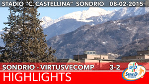 Sondrio - VirtusVecomp - Highlights del 08-02-2015
