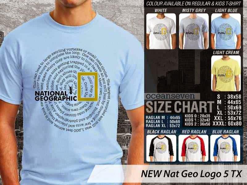 Kaos National Geographic NEW Nat Geo Logo 5 distro ocean seven