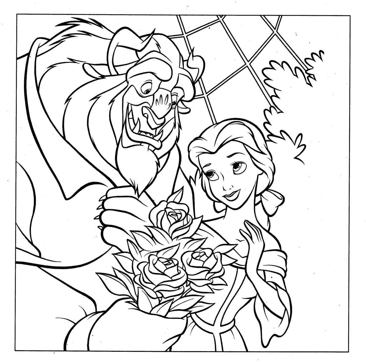 Coloring Pages Disney Princess Free Villains For