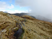 On the ridge to Gibson Knott after a hail storm has just passed