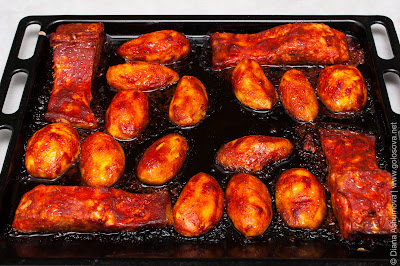 рыба в духовке с картофелем
