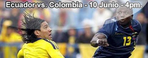 Ecuador vs Colombia en VIVO - 10 Junio 2012